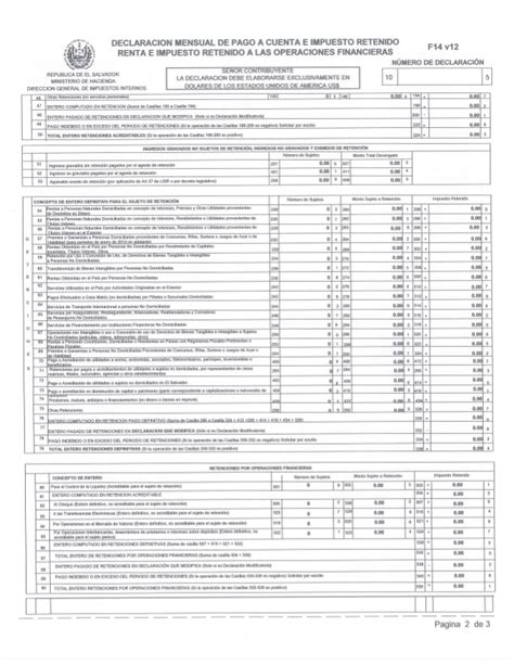 formulario para declaracion de renta en el salvador aplicativo f14v12