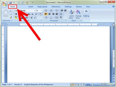 Microsoft Office Word 2007 Microsoft Word 2007 References Tab