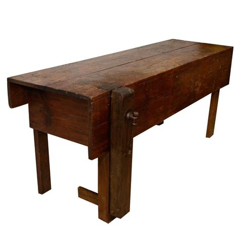 american work bench original vintage industrial american made work bench w vice at 1stdibs