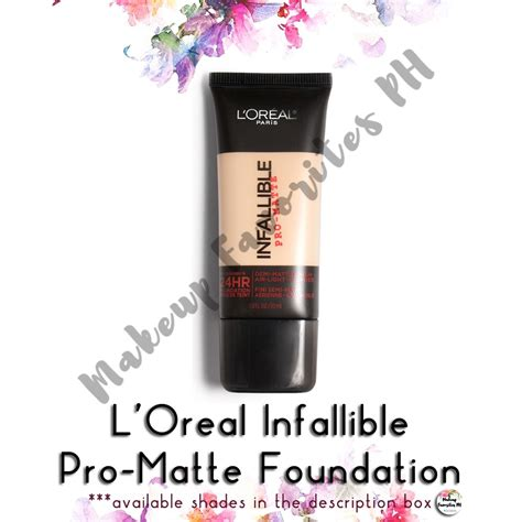 L Oreal Infallible Pro Matte 24 Hour Foundation Harga l oreal infallible pro matte 24hr foundation shopee