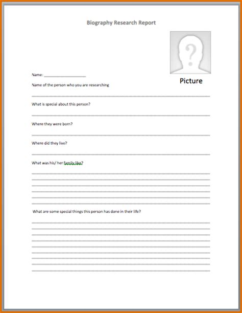 4  biography template   Authorizationletters.org