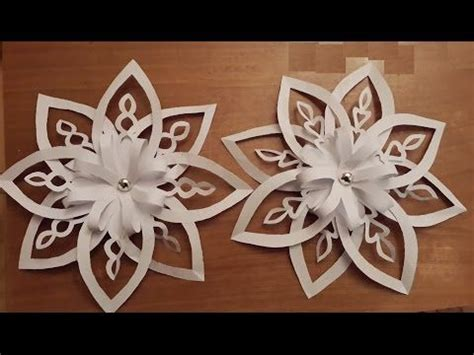 How To Make Paper Snowflakes 3d - best 25 3d paper snowflakes ideas on paper