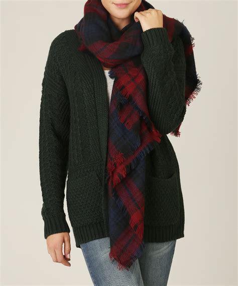 classic plaid blanket scarf kismet