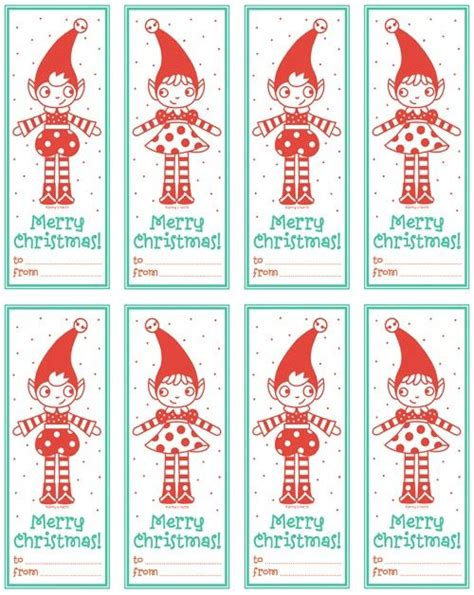 free printable elf on the shelf tags elf tags classroom pinterest