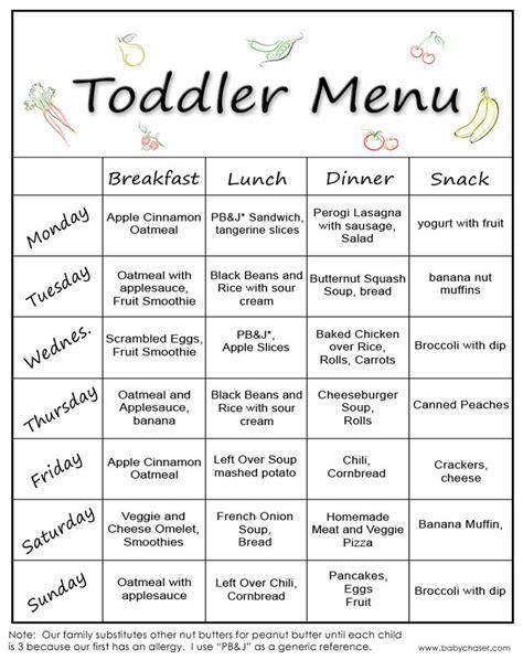 A Menu For Ii by New Toddler Menu 2 Kid Food