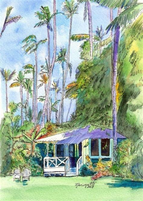 cottage hawaii hawaiian cottage ii print 5x7 from kauai hawaii