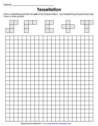 tessellation pattern worksheet tessellations worksheets the large and most