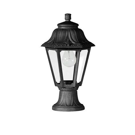 Fumagalli E22 110 Ax Mikrolot Anna 385mm Black Pedestal Fumagalli Outdoor Lighting