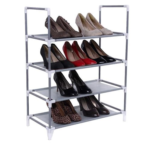 etagere 74 cm songmics 174 armoire 233 tag 232 res 224 chaussures 4 couches gris 58
