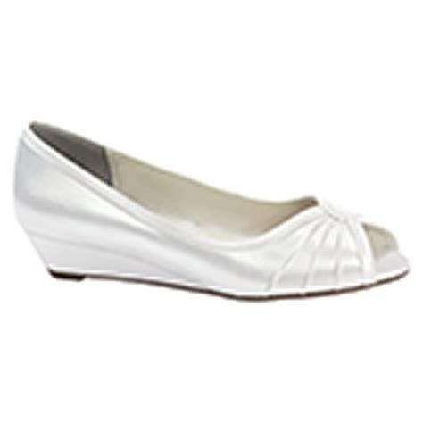honey white dress low wedge bridal shoes wedding