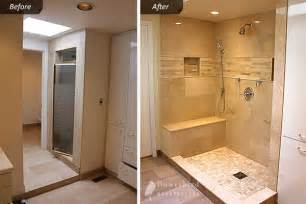 Small Attic Bathrooms - bathroom renovtion in toronto luxury shower with sandy marble tile