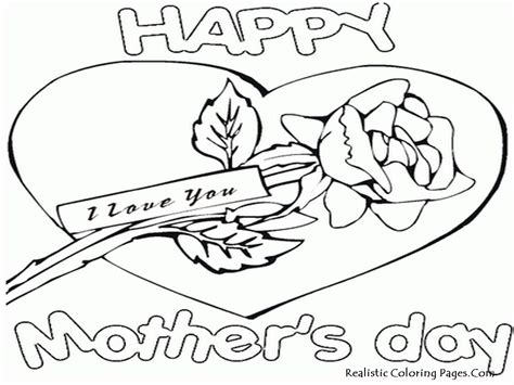 coloring pages for s day cards mothers day 2013 greeting card realistic coloring pages