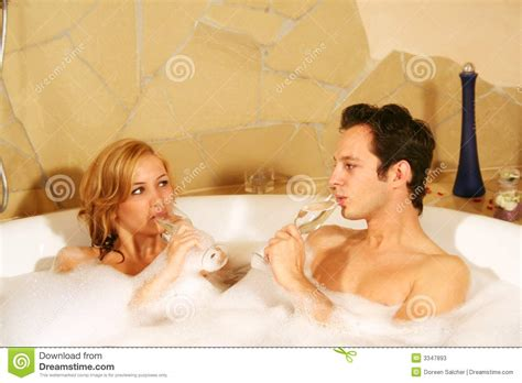 couple bathtub lovely couple in bath stock image image of alone beauty