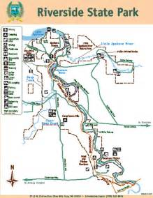 state park map riverside state park map 9711 w charles rd nine mile