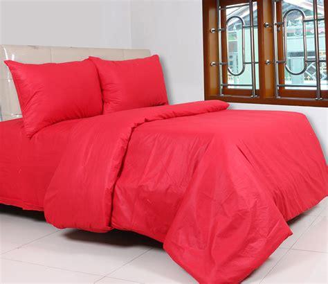 Sprei Polos Merah Kombinasi Orange Ukuran 100x200x20 Cm katalog sprei pelangi butik ceria