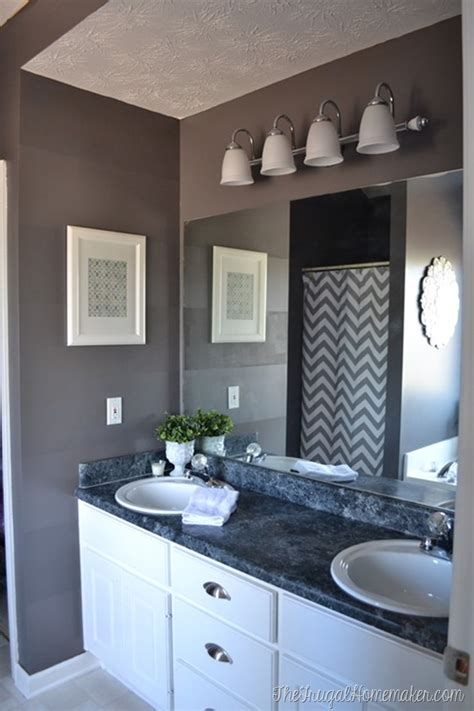 10 Diy Ideas For How To Frame That Basic Bathroom Mirror Bathroom Mirror Trim Ideas