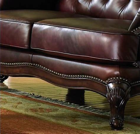 victoria sofa set victoria classic button tufted leather sofa set