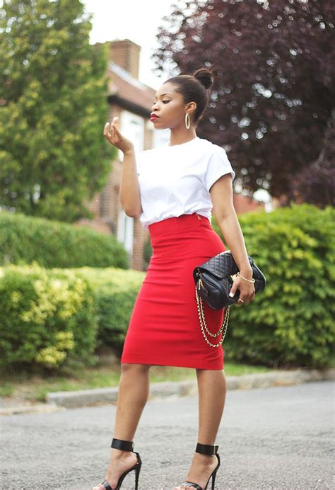 and white pencil skirt dress ala