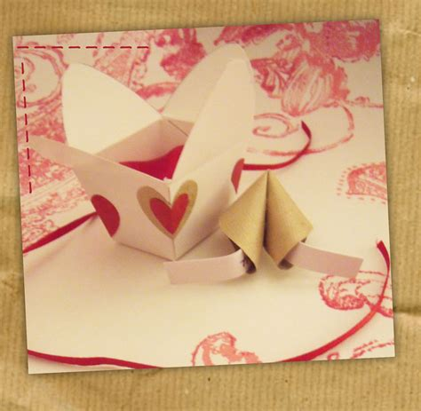 How To Make A Fortune Cookie Out Of Paper - origami fortune cookie in a mini take out box handmade