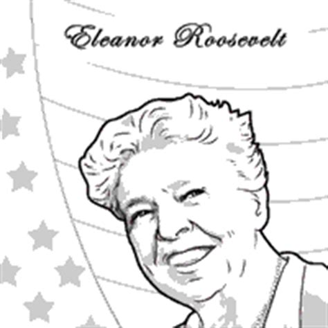 Eleanor Roosevelt Coloring Page eleanor roosevelt 187 coloring pages 187 surfnetkids