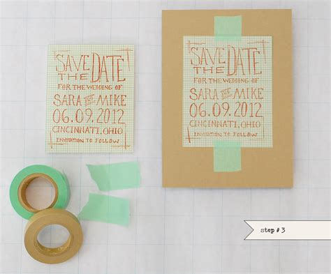 Handmade Save The Dates - diy chic graph paper save the dates