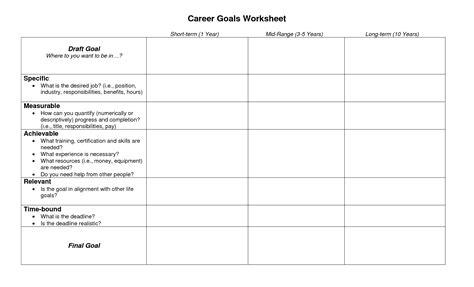 14 best images of smart goal setting worksheet smart