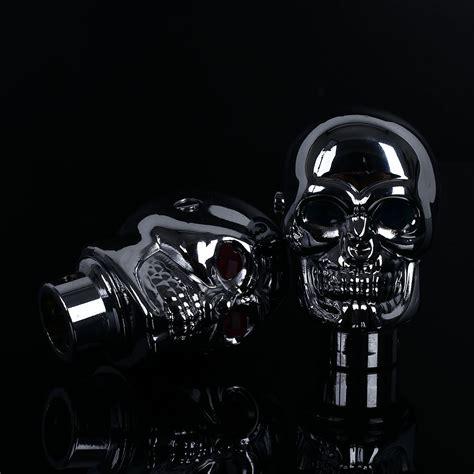 Skull Shift Knob With Light Up by Skull Universal Blue Led Gear Shift Knob Stick