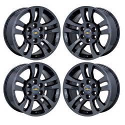 Chrome Wheels On Black Truck 18 Quot Silverado 1500 Truck Black Chrome Wheels Rims Factory