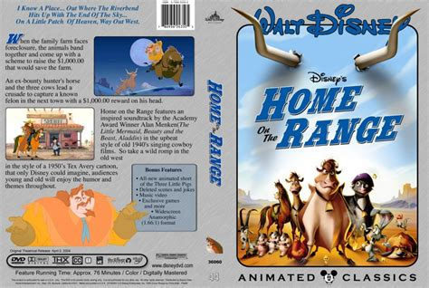 home on the range dvd custom covers 5434home