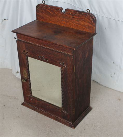 antique oak wall mount medicine cabinet mirror glass bargain john s antiques 187 blog archive oak wall mount