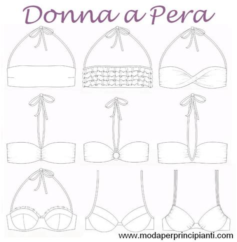 sedere a pera moda per principianti il costume per la donna a pera
