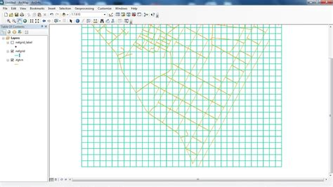 arcgis layout view grid create net grid polygon polyline in arcgis