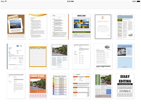 templates for word on ipad invoice template word ipad hardhost info
