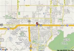 where is katy on the map map of hton inn suites houston katy tx katy