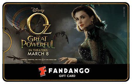 What Movie Theaters Take Fandango Gift Cards - fandango gift card giveaway who do you want to watch in oz fandango