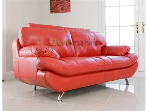 Verona Leather Sofa Verona Two Seater Sofa Faux Leather With Adjustable Headrest