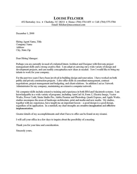 Architect Cover Letter   Resume Cover Letter
