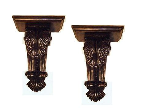 decorative wall brackets for shelves wall shelves quot canterbury quot decorative wall bracket pair
