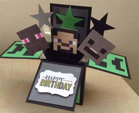 Minecraft Handmade - 25 best ideas about minecraft birthday card on