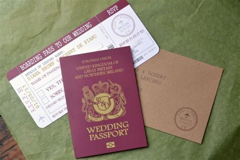 boarding card wedding invites uk passport travel wedding invitation