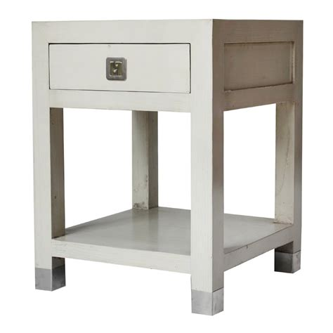 Contemporary End Tables Buy Qing Dao Ivory White Contemporary Side Table Side Table