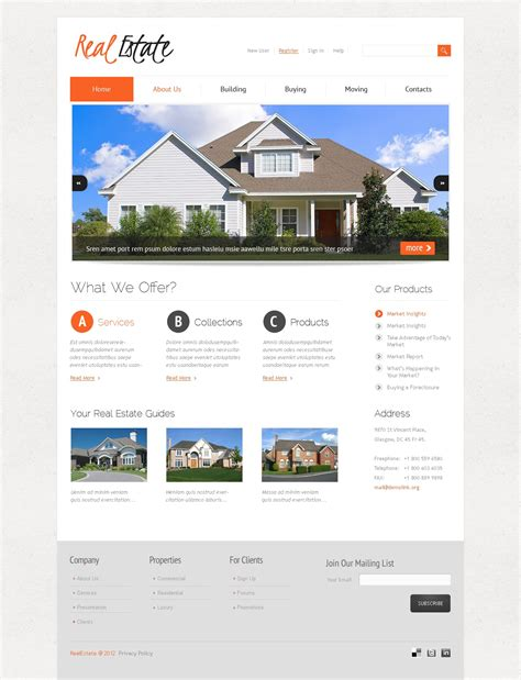joomla templates real estate real estate joomla template 38146