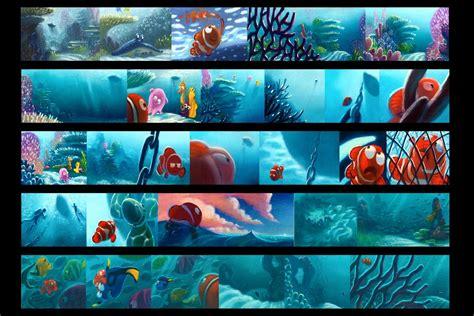 color key finding nemo storyboard color key pastels pixar