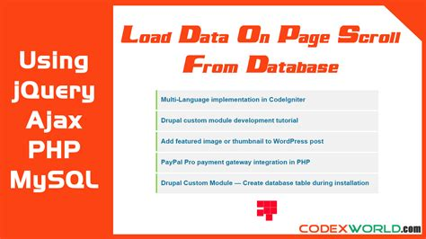 tutorial php jquery mysql load data on page scroll using jquery ajax php from mysql