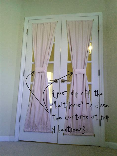 french door curtains walmart not a house but home tutorial diy french door curtain