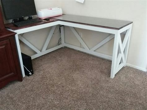 shaped desk farmhouse rustic  hubby