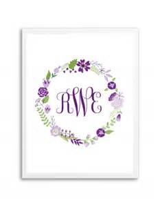 free printable monogram templates floral wreath monogram purple chicfetti monograms