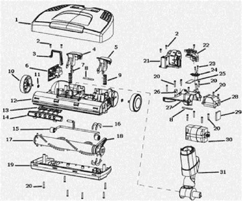 electrolux vacuum parts diagram electrolux el6988e parts list and diagram