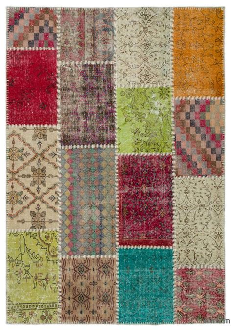 Turkish Patchwork Rugs - vintage patchwork rugs kilim rugs overdyed vintage rugs