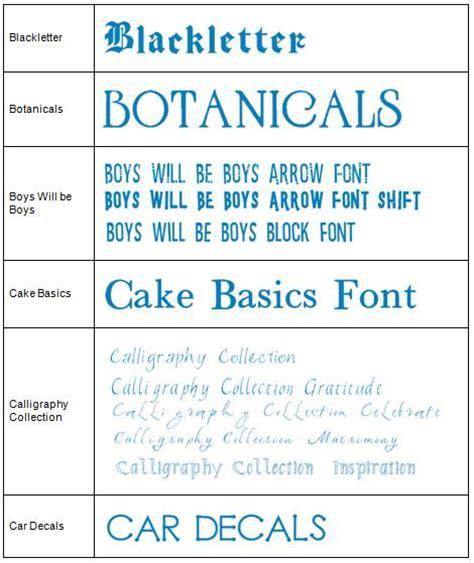 font design guide the cricut lovers guide to design studio full list of